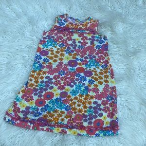 Hanna Andersson Sz 120 Sleeveless Floral Shift